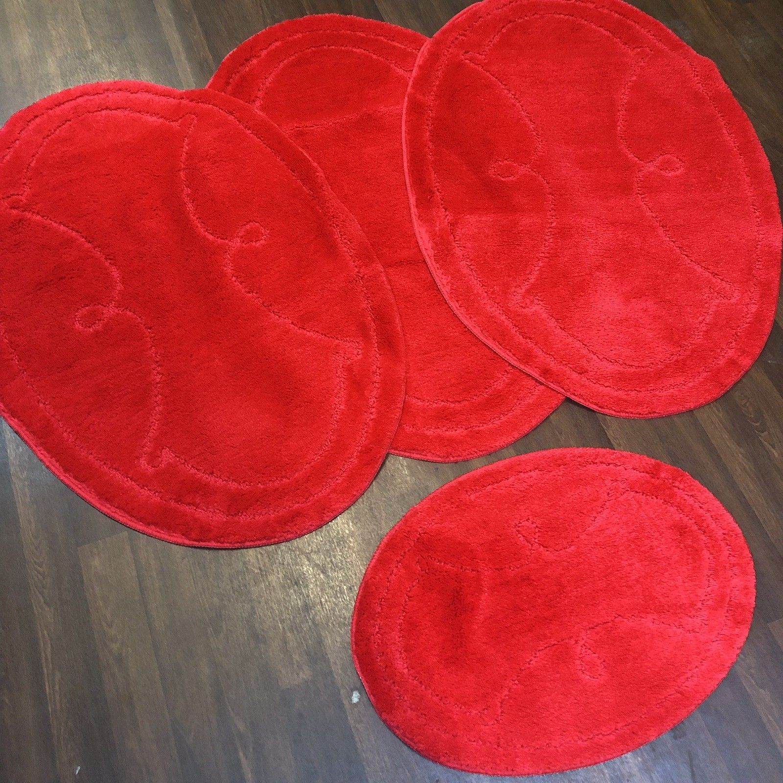 ROMANY WASHABLE TRAVELLER MATS SET NON SLIP SUPER THICK RUGS RED NEW DESIGNS